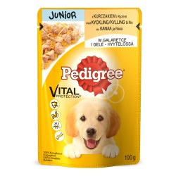 MFP.PEDIGREE 100g JUNIOR KURA RYŻ W GALA
